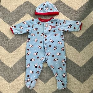 Little Me Christmas pajamas with Hat 6 months!